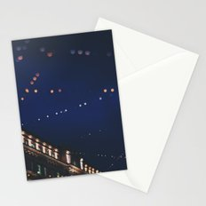 christmas lights ...  Stationery Cards