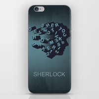 sherlock holmes iPhone & iPod Skins featuring Sherlock Holmes by HomePosters