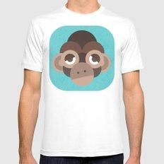 Cheeky Monkey Mens Fitted Tee White MEDIUM