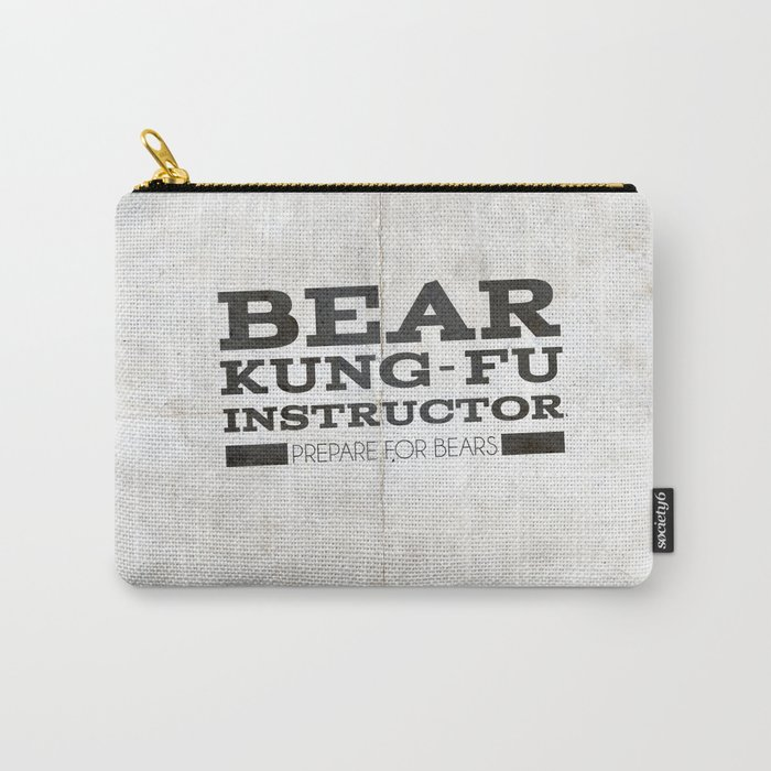Bear Kung fu Carry-All Pouch