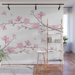 Cherry Blossom - Transparent Background Wall Mural