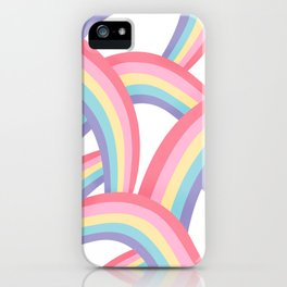 Rainbow abstract pattern iPhone Case