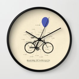 Anatomy Of A Bicycle Wall Clock