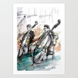 Two Contrabass Art Print