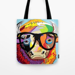 "Hipster Bison ""Buffalo"" Tote Bag"