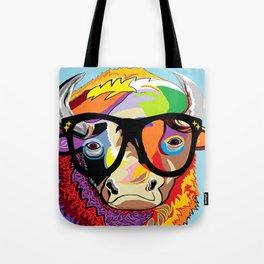 "Hipster Bison ""Buffalo"" Tote Bag"