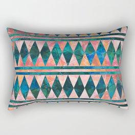 Decorative Multi-color Diamond Pattern Design Rectangular Pillow