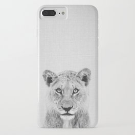 Lioness II - Black & White iPhone Case