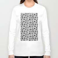 antique Long Sleeve T-shirts featuring Antique Book Pattern by Stacey Muir