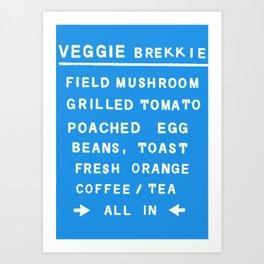 Veggie Brekkie Art Print