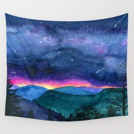 Good Night Smoky Mountains Wall Tapestry