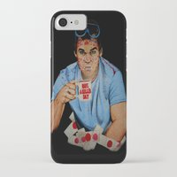 dexter iPhone & iPod Cases featuring Dexter by Lydia Dick