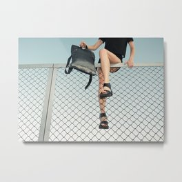 Hoping Fences Metal Print
