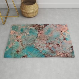 Marble Turquoise Blue Rug