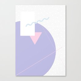 Geometric Calendar - Day 1 Canvas Print
