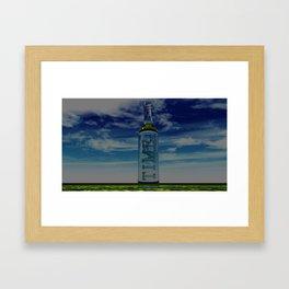 """""""Time in a bottle"""" Framed Art Print"""