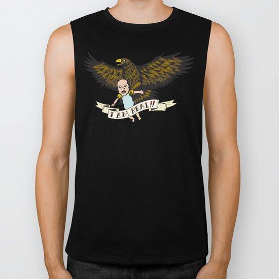 """Golden Eagle: """"I AM REAL!"""" Biker Tank"""