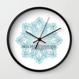 Skin Deep Exposures Logo Wall Clock