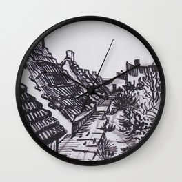 Street in Saintes-Maries by Vincent van Gogh Wall Clock