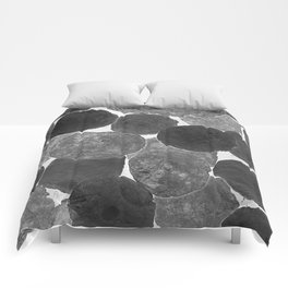 Abstract Gray Comforters