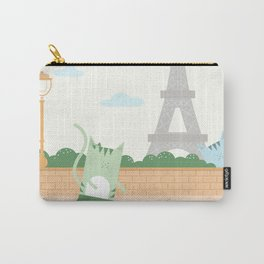Traveling Tabbies: In Paris Carry-All Pouch