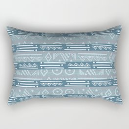 Polynesian Blue Beach Print Rectangular Pillow