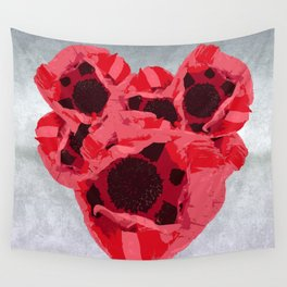 In memoriam - Heart of poppies Wall Tapestry