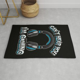 Can't Hear You I'm Gaming - Gamer Headset Sound Rug