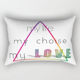 Love Pyramid Rectangular Pillow