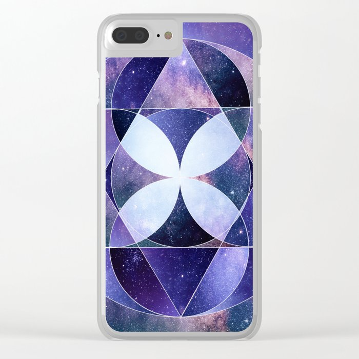 Galaxy Collage d1 Clear iPhone Case