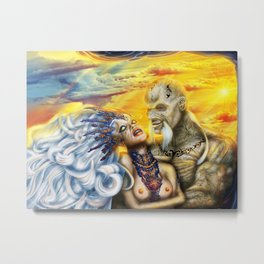 Wraith Queen Gwen and commander Boris Metal Print