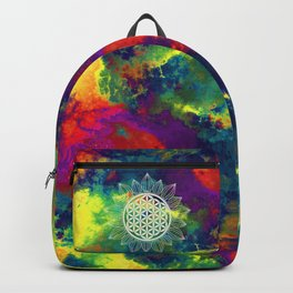 Flower Of Life (Lively World) Backpack
