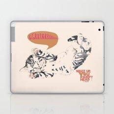 Wake Up Tiger - Beige Laptop & iPad Skin