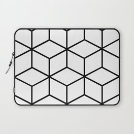 Black and White - Geometric Cube Design I Laptop Sleeve