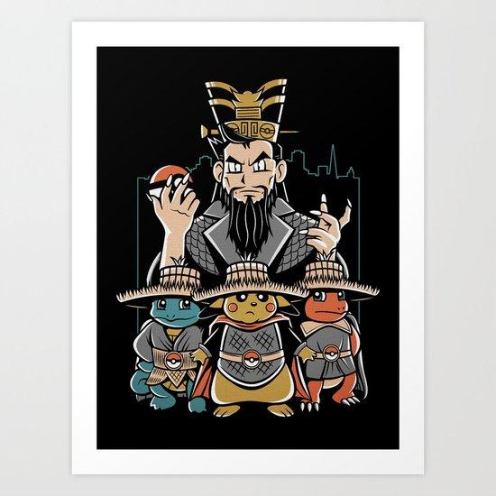 Big Trouble in Little Kanto  Art Print