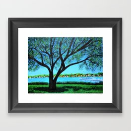 Lakeside view  Framed Art Print