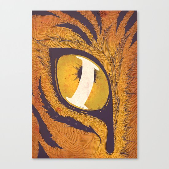 """""""I"""" of the Tiger Canvas Print"""