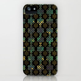 Endless Knot Pattern - Gold and Marble iPhone Case
