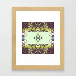 _kaleidoscope series: indiana hoosier state pride. Framed Art Print