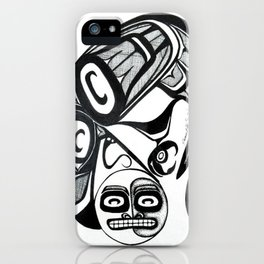Raven Steals the Moon iPhone Case