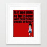 tina belcher Framed Art Prints featuring Tina Belcher by gamunev