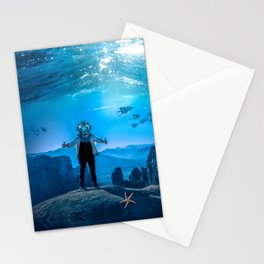 20,000 Leagues Under the Sea (SQUARE) Stationery Cards