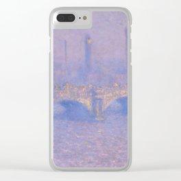 "Claude Monet ""Waterloo Bridge, Effect of Sun"" Clear iPhone Case"