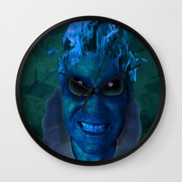 BLUE PLANET ALIEN (Us And Them) Wall Clock