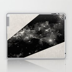 Expanding Universe - Abstract, black and white space themed design Laptop & iPad Skin