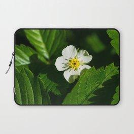 Wild Strawberry Flower Laptop Sleeve