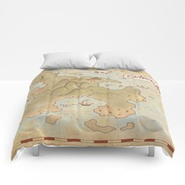 Map of Neverland Comforters