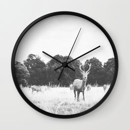 HELLO DEER IV Wall Clock