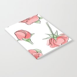 Watercolor Roses Notebook