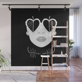 Woman with glasses Wall Mural